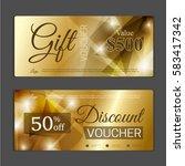 gift voucher template. can be... | Shutterstock .eps vector #583417342