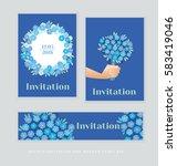 spring blossom invitation card... | Shutterstock .eps vector #583419046