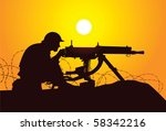 Vector Silhouette Of A British...