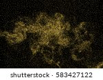 gold glitter texture isolated... | Shutterstock . vector #583427122