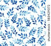 watercolor seamless pattern... | Shutterstock . vector #583429372