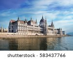 parliament building in budapest | Shutterstock . vector #583437766