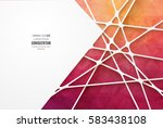 abstract geometric background... | Shutterstock .eps vector #583438108