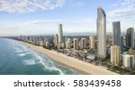 aerial view of gold coast... | Shutterstock . vector #583439458