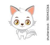 cute stylized cartoon arctic... | Shutterstock .eps vector #583442266
