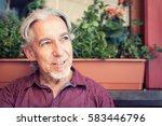 senior man's portrait | Shutterstock . vector #583446796