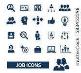 job icons | Shutterstock .eps vector #583452298