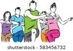 fitness group vector... | Shutterstock .eps vector #583456732