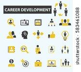 career icons | Shutterstock .eps vector #583461088