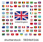 set of glossy icons of flags of ... | Shutterstock .eps vector #583464166