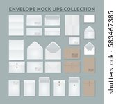 open and close envelope mock... | Shutterstock .eps vector #583467385