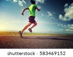 health lifestyle woman trail... | Shutterstock . vector #583469152