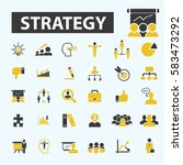 strategy icons | Shutterstock .eps vector #583473292