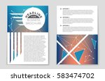 abstract vector layout... | Shutterstock .eps vector #583474702
