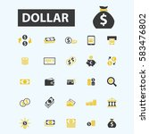 dollar icons | Shutterstock .eps vector #583476802