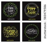 set of greeting cards designed... | Shutterstock .eps vector #583479586