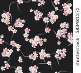 floral seamless pattern in... | Shutterstock .eps vector #583481272