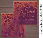 wedding invitation card suite... | Shutterstock .eps vector #583482382