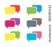 pictograph of message or chat.... | Shutterstock .eps vector #583483162