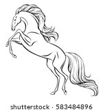 outline vector drawing of a... | Shutterstock .eps vector #583484896