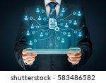 corporate data management... | Shutterstock . vector #583486582