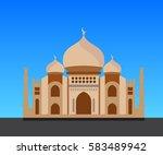 mosque vector  vector... | Shutterstock .eps vector #583489942