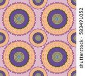 decorative mandala seamless... | Shutterstock .eps vector #583491052