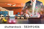 business logistics concept ... | Shutterstock . vector #583491406