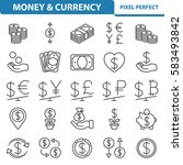 money   currency icons.... | Shutterstock .eps vector #583493842