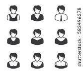 set of icons on a white...   Shutterstock .eps vector #583496278