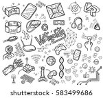 doodle vector collection of... | Shutterstock .eps vector #583499686