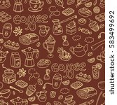 vector seamless pattern with ... | Shutterstock .eps vector #583499692