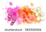 watercolor imitation background ... | Shutterstock .eps vector #583500406