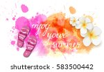 watercolor imitation background ... | Shutterstock .eps vector #583500442