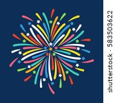 firework shapes colorful... | Shutterstock .eps vector #583503622