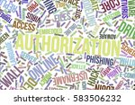 authorization  it  information... | Shutterstock . vector #583506232