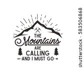 mountains are calling vector... | Shutterstock .eps vector #583506868