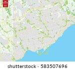 Vector Color Map Of  Toronto ...