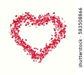valentines composition of the... | Shutterstock .eps vector #583508866