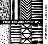 painted pattern set | Shutterstock .eps vector #583511266