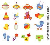 set of beautiful baby icons | Shutterstock .eps vector #58351864