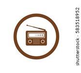 radio icon  isolated. flat ... | Shutterstock .eps vector #583518952