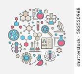 chemistry colorful illustration.... | Shutterstock .eps vector #583520968