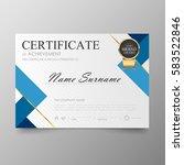 certificate premium template...   Shutterstock .eps vector #583522846
