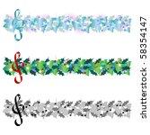 christmas music banner   Shutterstock .eps vector #58354147