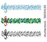 christmas music banner | Shutterstock . vector #58354150
