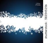 christmas border  snowflake...   Shutterstock .eps vector #583545256