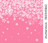 cherry blossoms background | Shutterstock .eps vector #583545862