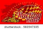 karting race | Shutterstock .eps vector #583547335