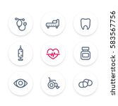 medical icons set  stethoscope  ... | Shutterstock .eps vector #583567756